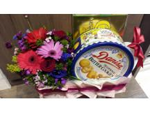 Beautiful arrangement with cookies & new moon chicken essence