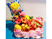 Wishing you well with assorted balloon