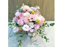 Gorgeously arrange pastel mix seasonal flowers bridlal bouquet