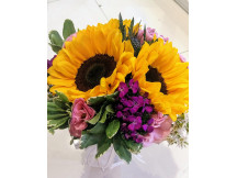 Life time happiness - 3 charming sunflower bridal bouquet