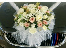 Modern full bridal car dress up at front, back and side inclusive of installation