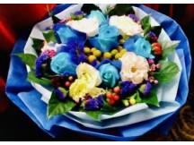 6 Charming Blue Roses Bouquet