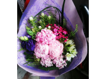 Grand  3 Peonies with exciting fillers bouquet, order to be cfm
