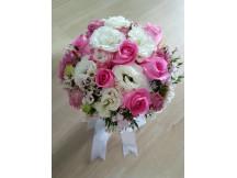 Captivating one dozen roses pink Bridal Bouquet