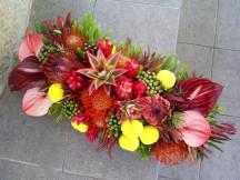 Premier range of seasonal mix exotic fresh flower arrangement