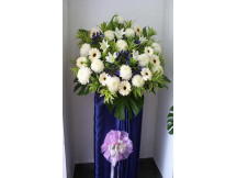 Only  uses 100% Fresh Floral for Condolence Stand