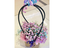 Brighten my Life - colorful Baby's Breath in a flower bag