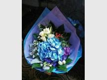 Stylish Looking Blue Hydrangea Bouquet