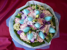 10 Rare Blue Tulips fiilled with seasonal Fillers Bouquet