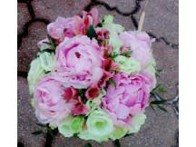 Oriental Elegance- Seasonal 3 Peonies with side flowers bridal bouquet