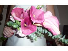 Sleek Pink Cala lilies Bridal Bouquet