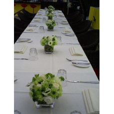 Nature wonders -touch of White Rose with Green fresh floral in small glass arrangement - for more qty please call 91179780